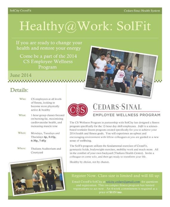 Cedars-Sinai's Employee Wellness Program… Innovative